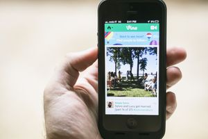 The Vine app on a smartphone.