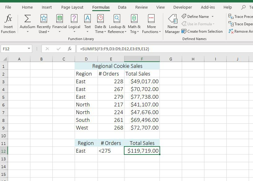 Excel SUMIFS Function Tutorial