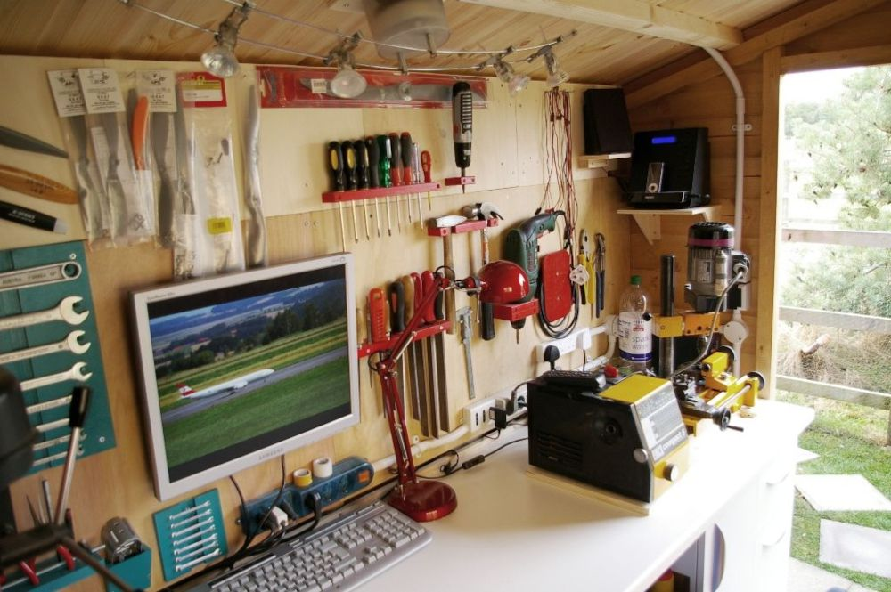A computer in a shed