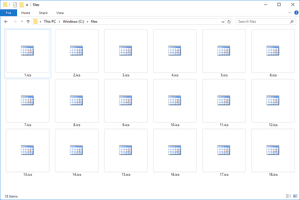 Several ICS files that open with Microsoft Outlook in Windows 10