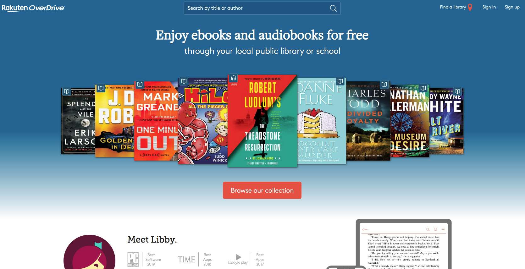 Screenshot of OneDrive service to obtain free Nook books from public library