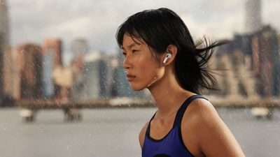 person running while wearing the AirPods 3
