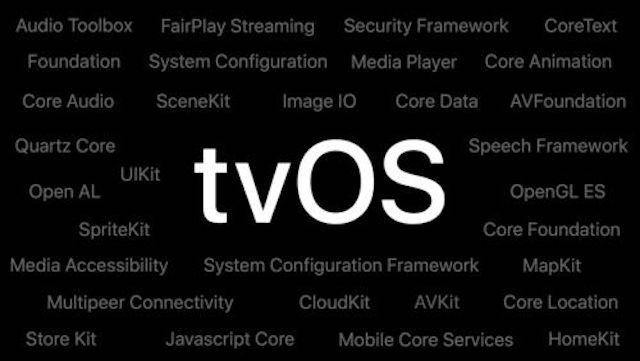 tvOS 11 Features keynote screen