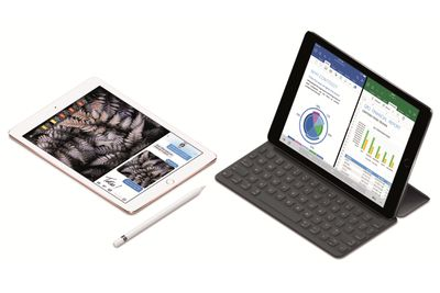 iPad Pro with and without a keyboard