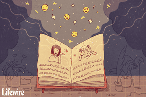 An open book explaining emojis