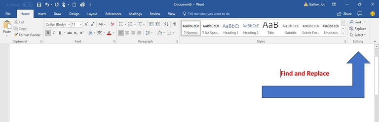 A screen shot of Microsoft Word's Find and Replace options.