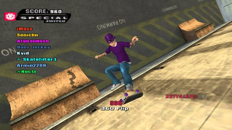 THUG 2 gameplay of Tony Hawk's Underground 2