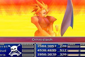 A player wielding a sword in Final Fantasy VII