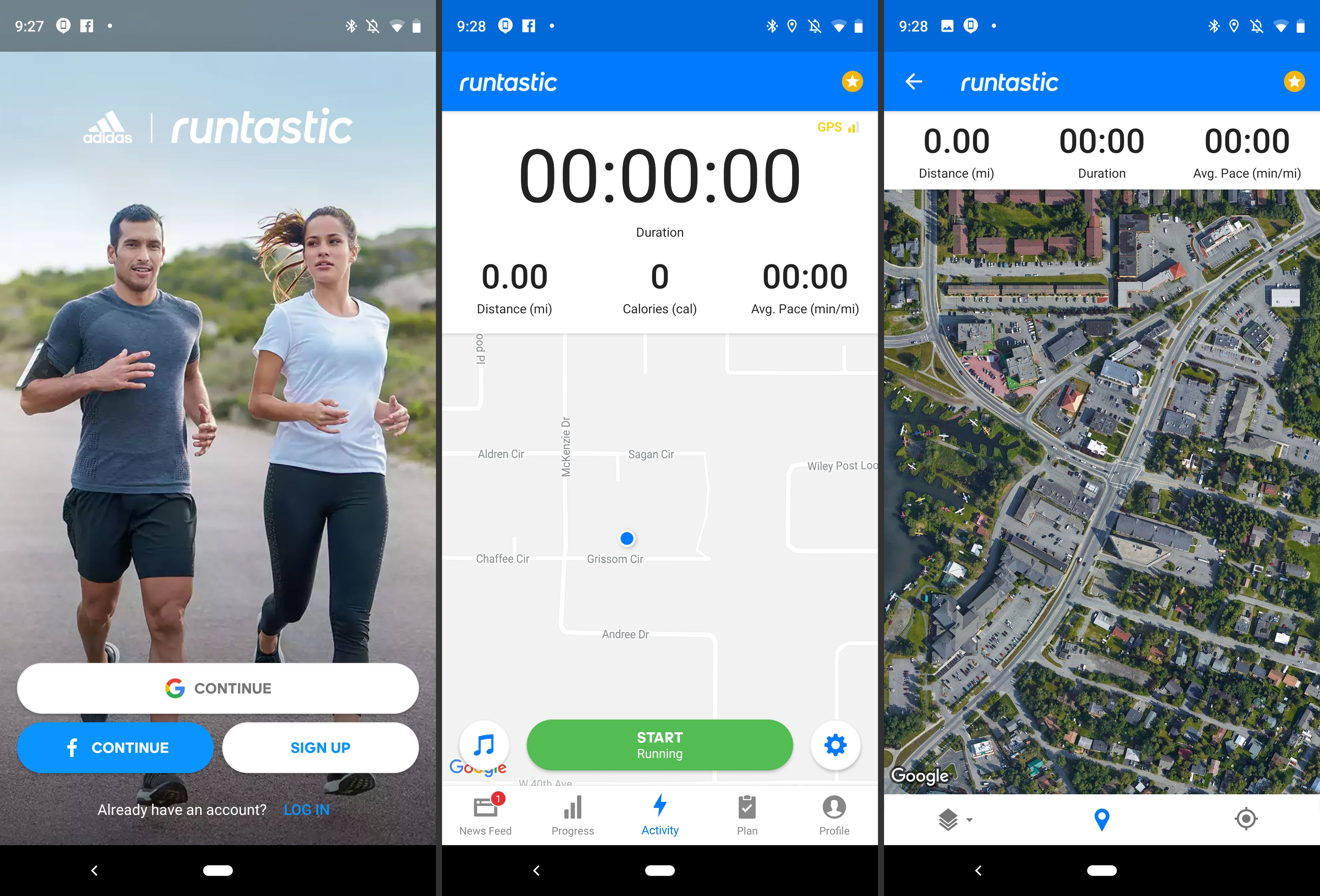 Runtastic app on Android