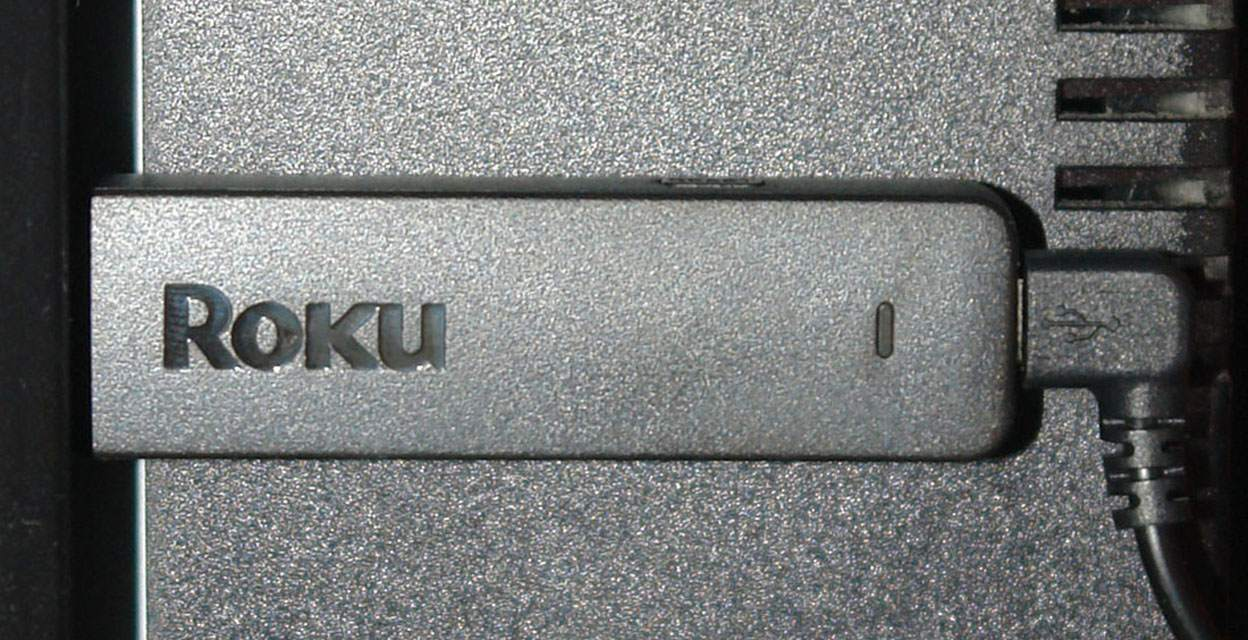 Roku Streaming Stick Connected To TV via HDMI