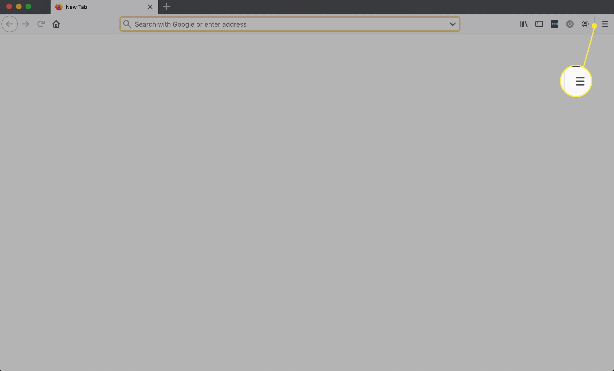 Firefox menu