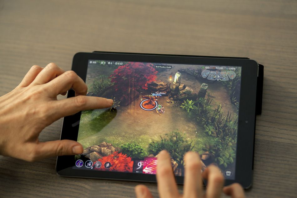 Gameplay on a tablet