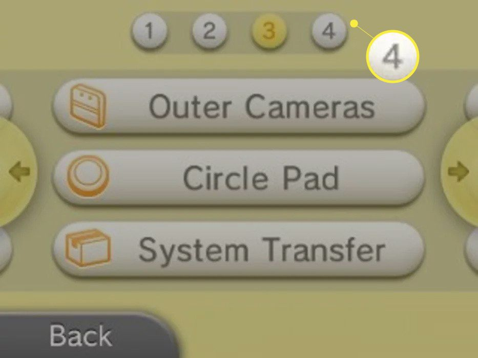 Tap 4 at the top of the screen, then tap System Transfer.