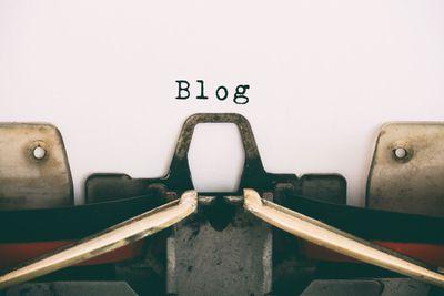 Blog on typewriter