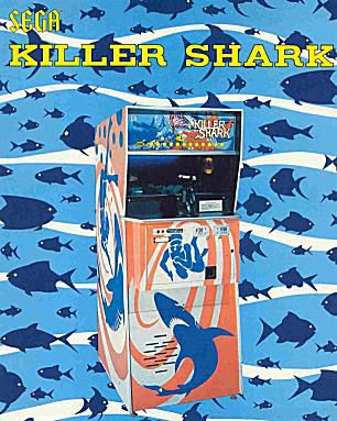 Flyer for the Killer Shark Arcade game.