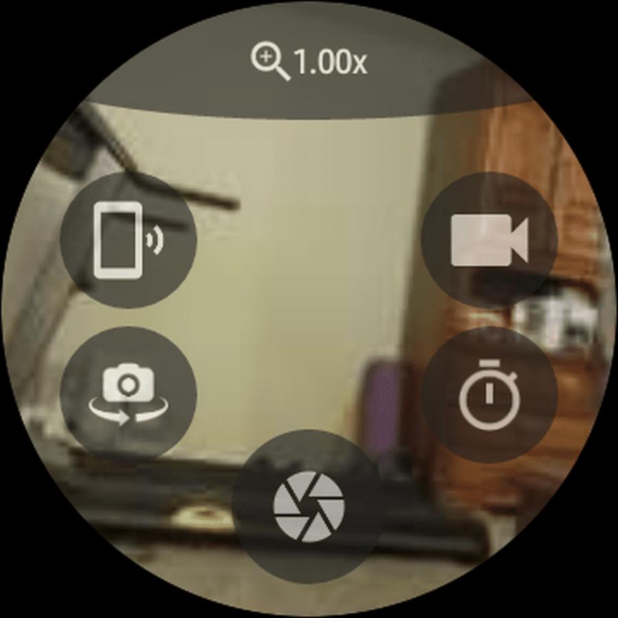 Screenshot of Wrist Camera Galaxy Watch app.