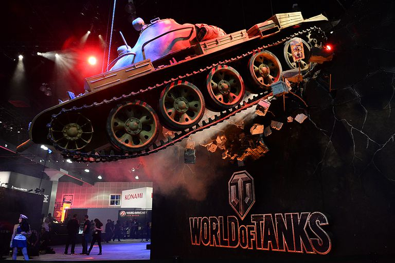 World of Tanks display at 2014 E3 Electronic Entertainment Expo