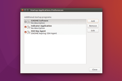 Ubuntu Startup Applications