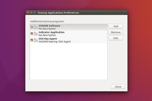 Ubuntu startup applications modal