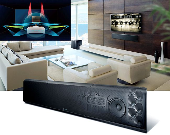 The Yamaha YSP-5600 Dobly Atmos-enabled Digital Sound Projector
