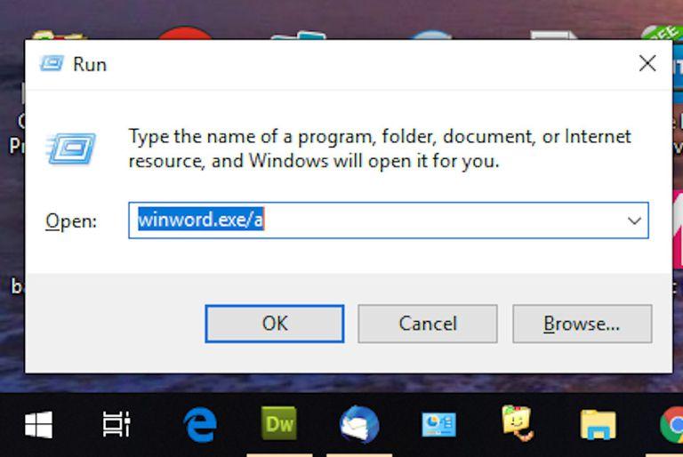 Windows Run screenshot
