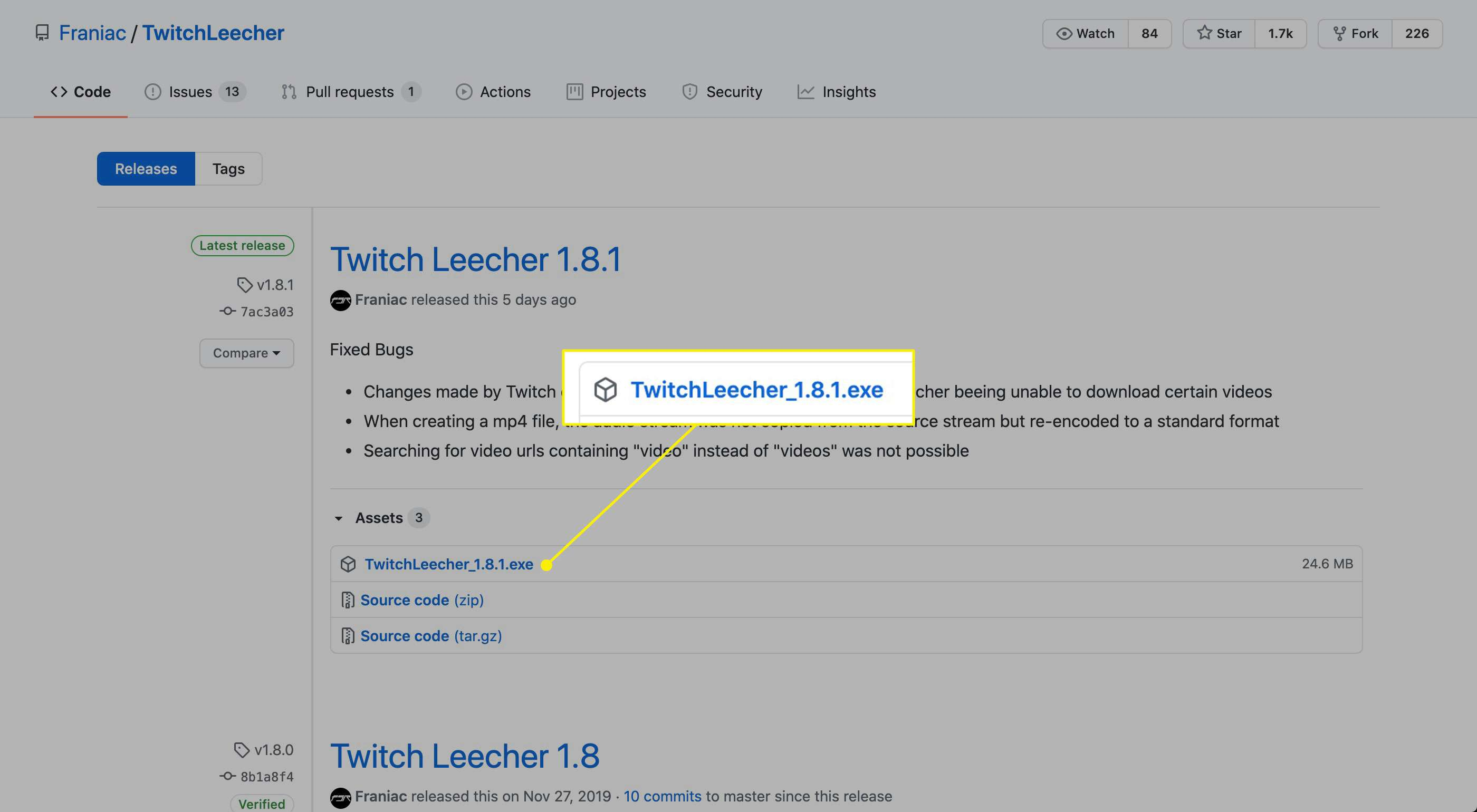The Twitch Leecher download link