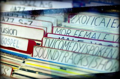 Records organized in alphabetical order