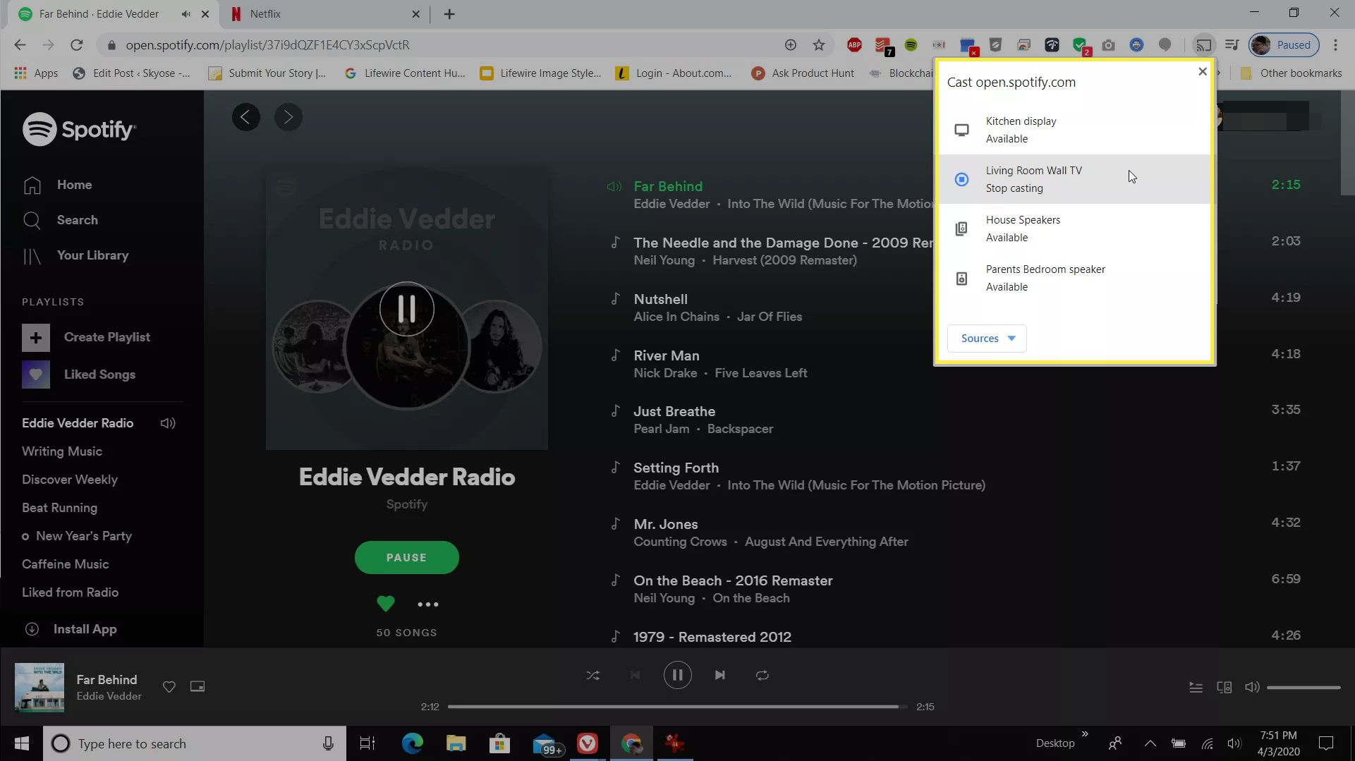 Casting from Spotify web