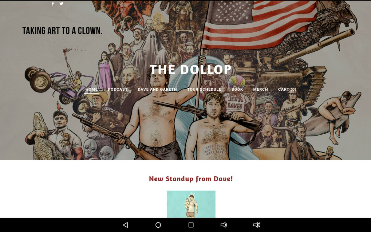 The Dollop home page