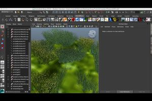 Screenshot of Maya Paint Effects