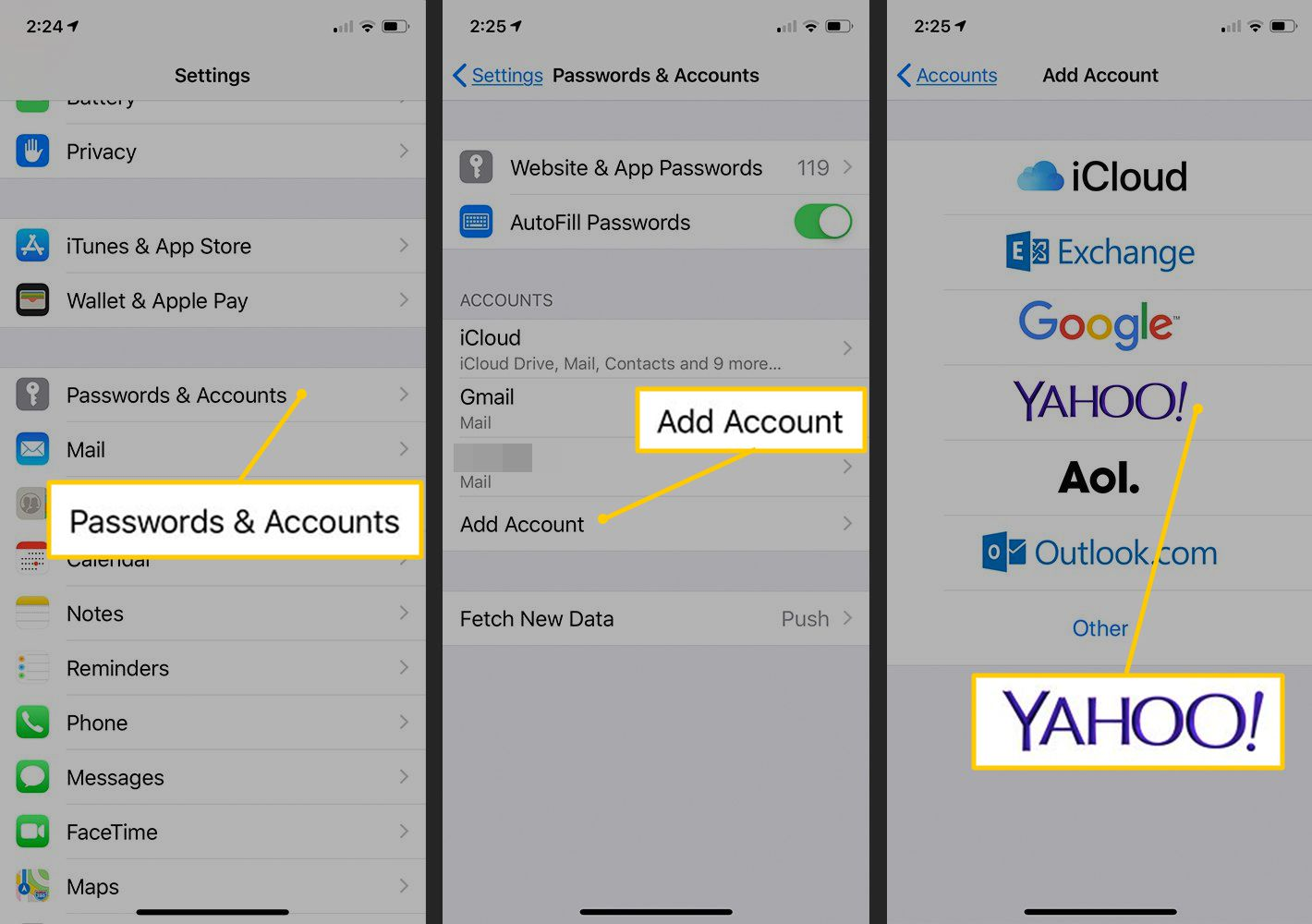How to Access a Yahoo Mail Account in iPhone Mail