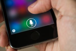 Siri being used on an Apple iPhone smartphone