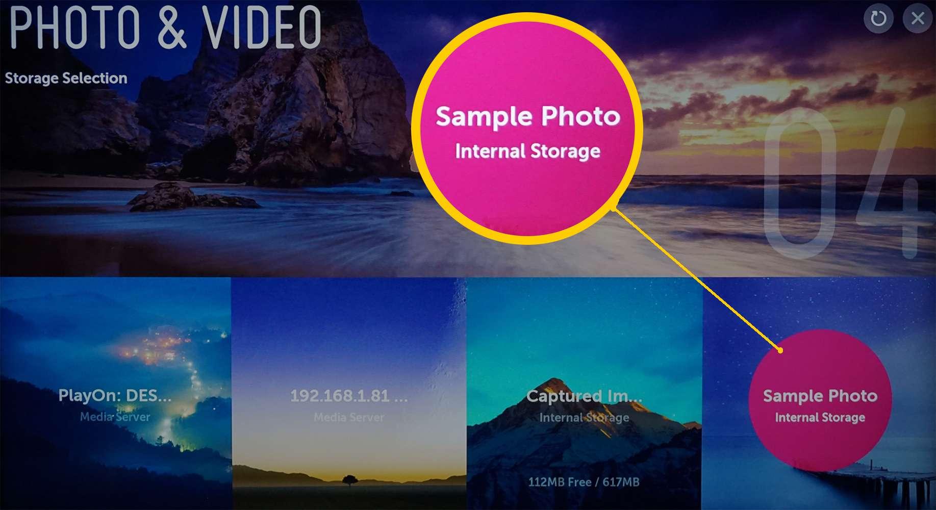 LG 4K Ultra HD TV – Photo Video Media Servers – Sample Images Selection