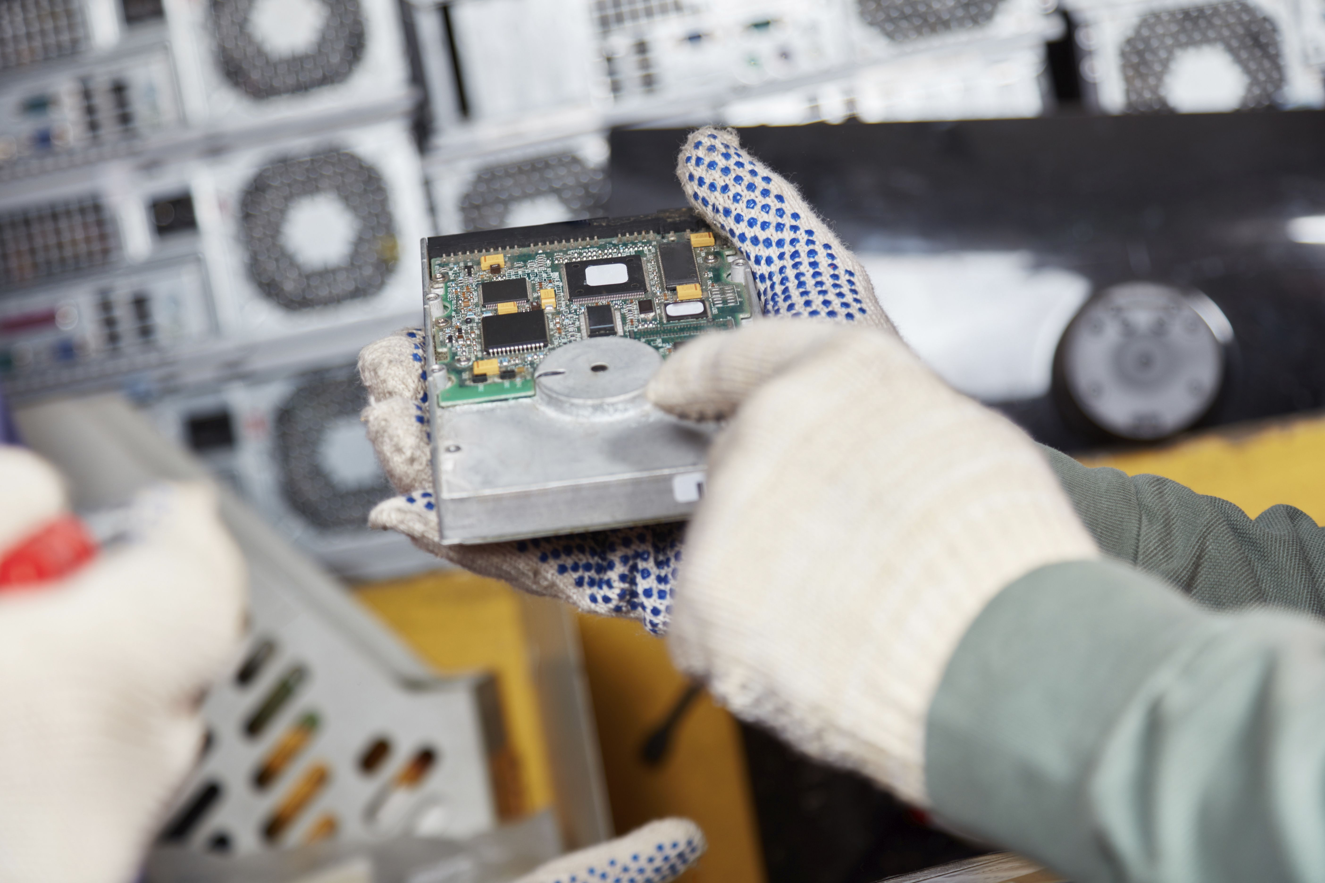 How To Recycle Your Analog Or Digital Tv And More Circuit Board Recycling On Printed Blue Industrial