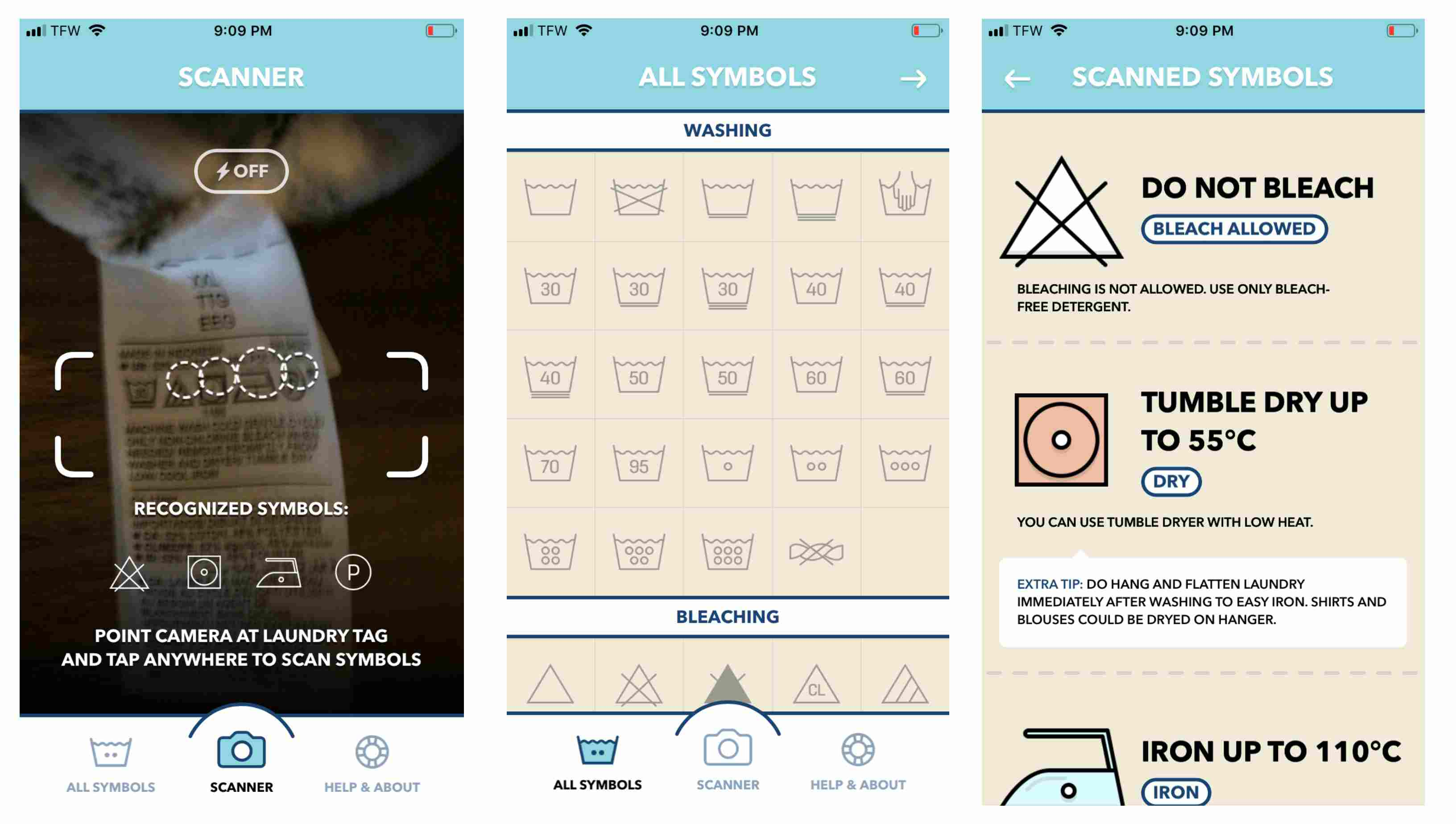 Laundry Day app on iPhone
