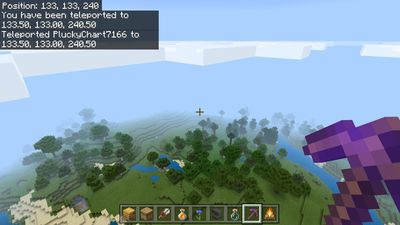 Teleporting in Minecraft