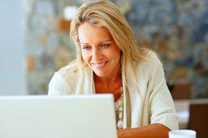 Writer working on laptop