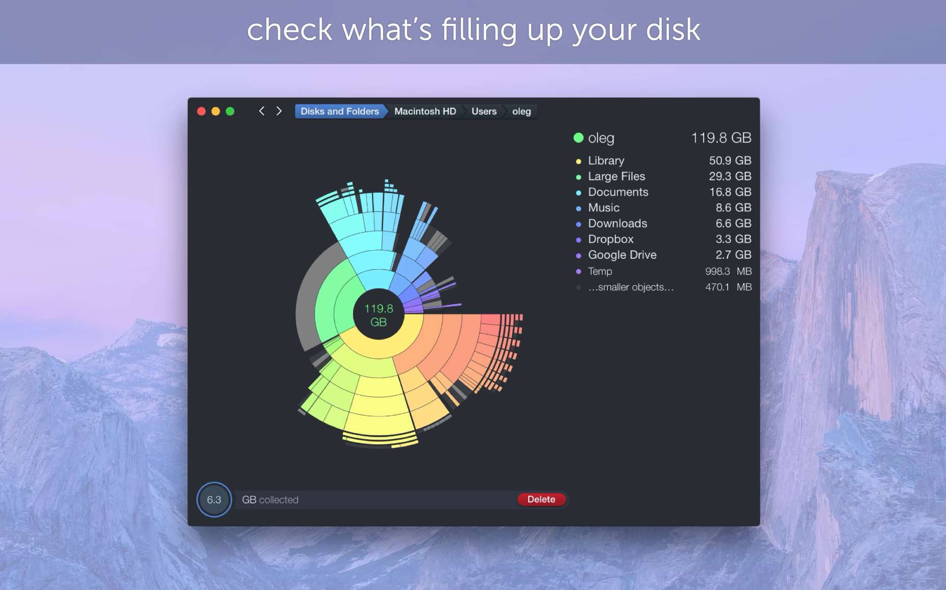 DaisyDisk app for macOS