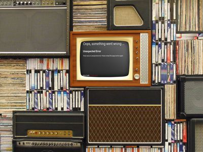 A vintage TV displaying Netflix error code M7353-5101