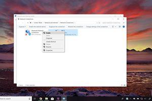Network Connections window on Windows 10 desktop