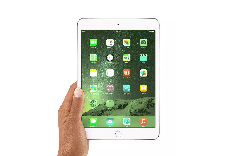 An iPad with a green tint