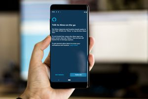 Alexa hands-free screen on Samsung phone