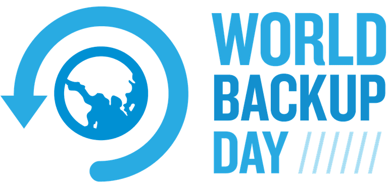 A screenshot of the World Backup Day logo