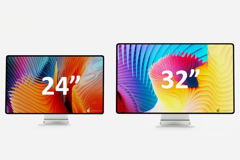 2021 iMac renders of the 24-inch and 32-inch displays
