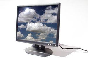 A computer monitor displaying a screensaver.