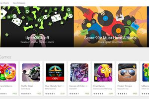 Google Play front page
