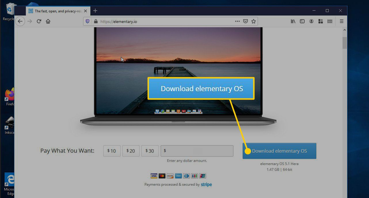 Download elementary OS button