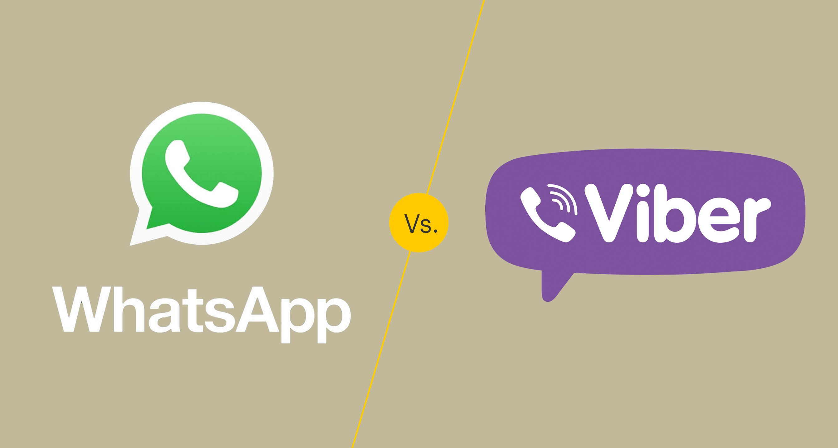 WhatsApp vs  Viber