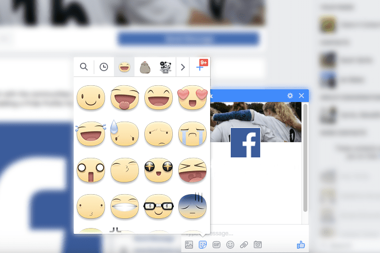 Facebook Stickers in Messages and Chat