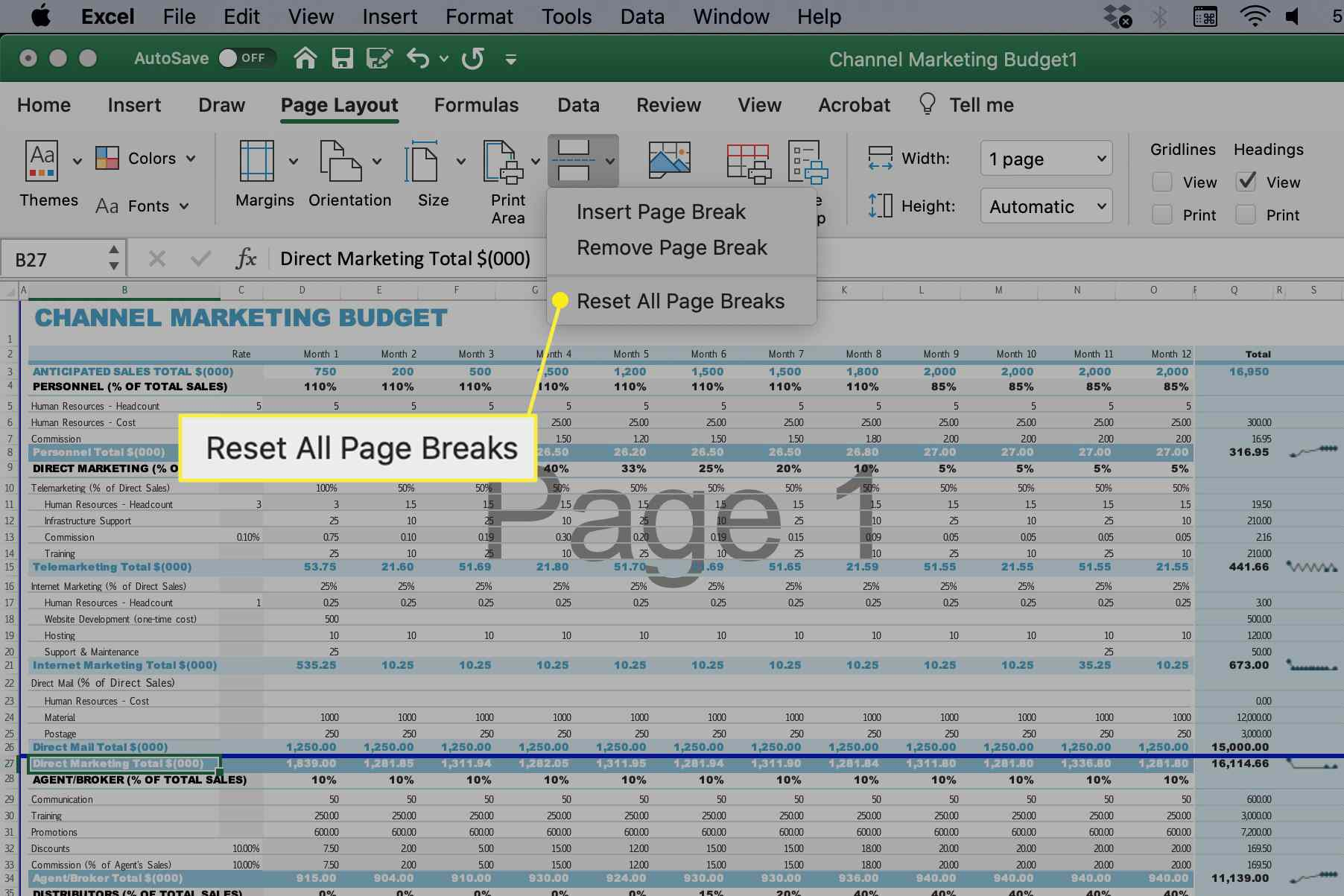 Reset All Page Breaks